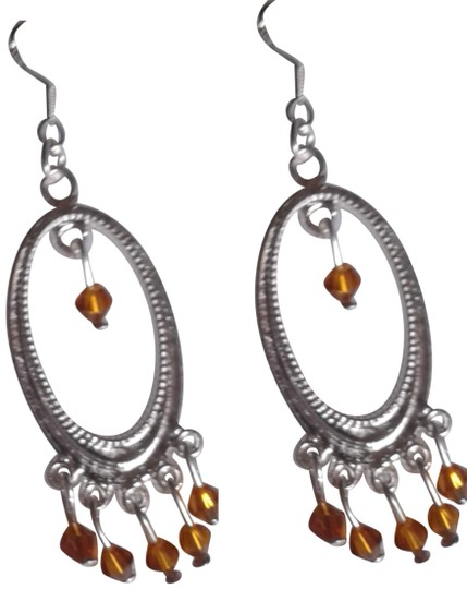 Preload https://item1.tradesy.com/images/brown-silver-plated-dangle-chandelier-earrings-23964445-0-1.jpg?width=440&height=440