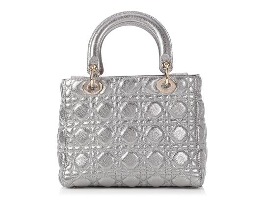 Dior Cannage Quilted Cd.p0802.10 Metallic Reduced Price Cross Body Bag