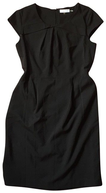 Preload https://img-static.tradesy.com/item/23964539/calvin-klein-black-cap-sleeved-mid-length-workoffice-dress-size-10-m-0-1-650-650.jpg