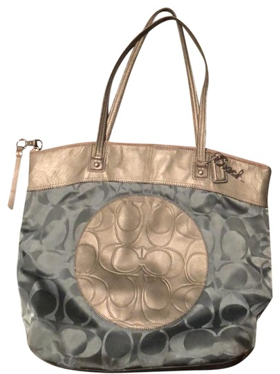 Preload https://item4.tradesy.com/images/coach-city-with-embellished-teal-and-gray-signature-fabric-tote-23964548-0-2.jpg?width=440&height=440