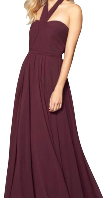 Preload https://img-static.tradesy.com/item/23964555/jenny-yoo-black-current-wine-mira-convertible-strapless-chiffon-long-formal-dress-size-12-l-0-2-650-650.jpg