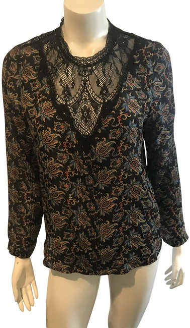 Preload https://img-static.tradesy.com/item/23964565/sea-multicolor-anthropologie-14518-printed-silk-long-sleeve-lace-neck-blouse-size-6-s-0-1-650-650.jpg