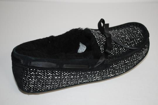 UGG Australia Upper Suede Wool Lining Rubber Sole BLACK Mules