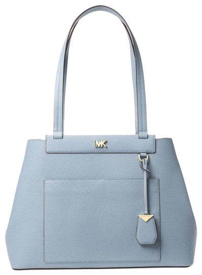 Preload https://item4.tradesy.com/images/michael-kors-meredith-pebbled-pale-blue-leather-tote-23964578-0-1.jpg?width=440&height=440