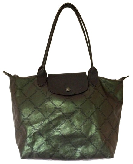 Preload https://item1.tradesy.com/images/longchamp-le-pliage-green-logo-handbag-brown-canvas-tote-23964585-0-1.jpg?width=440&height=440