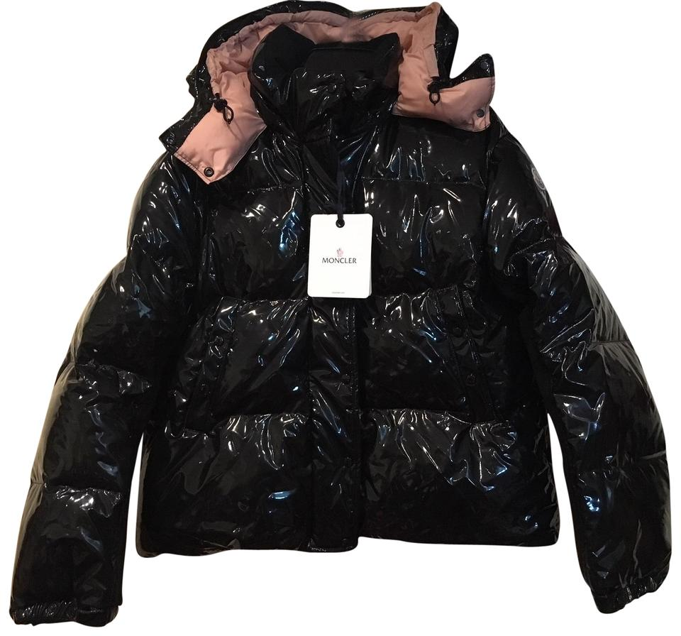 f8e7e61d353 Moncler Black Gaura Shiny Down Jacket - 3  Large Coat Size 14 (L ...