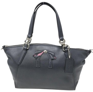 Coach Satchel in midnight navy
