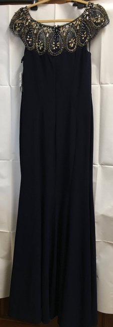 Dylan Gray Beaded Embellishment Long Gown Trumpet Flare New With Tags Dress