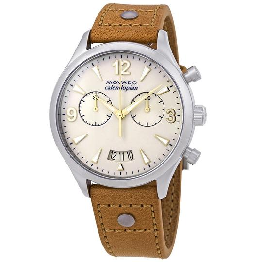 Preload https://item1.tradesy.com/images/movado-ivory-brown-heritage-chronograph-ladies-leather-sunglasses-watch-23964595-0-0.jpg?width=440&height=440