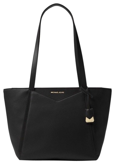 Preload https://item3.tradesy.com/images/michael-kors-whitney-small-pebbled-top-zip-black-leather-tote-23964602-0-1.jpg?width=440&height=440