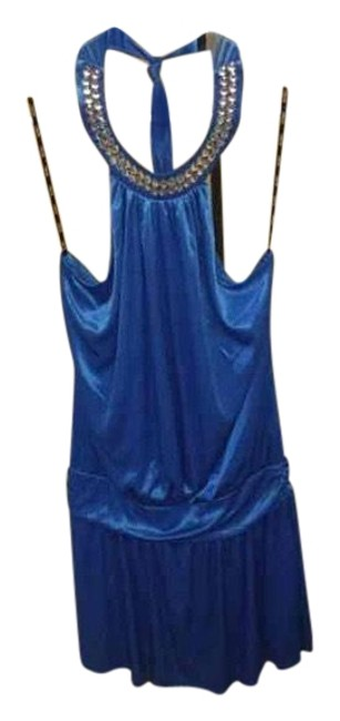 Preload https://item5.tradesy.com/images/xoxo-blue-women-s-beaded-neck-flapper-mid-length-cocktail-dress-size-14-l-23964604-0-1.jpg?width=400&height=650