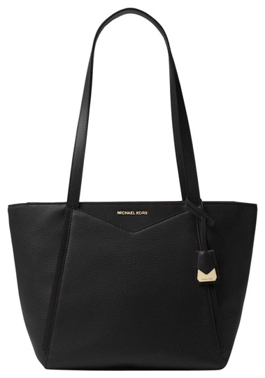 Preload https://item4.tradesy.com/images/michael-kors-whitney-small-pebbled-top-zip-black-leather-tote-23964608-0-1.jpg?width=440&height=440