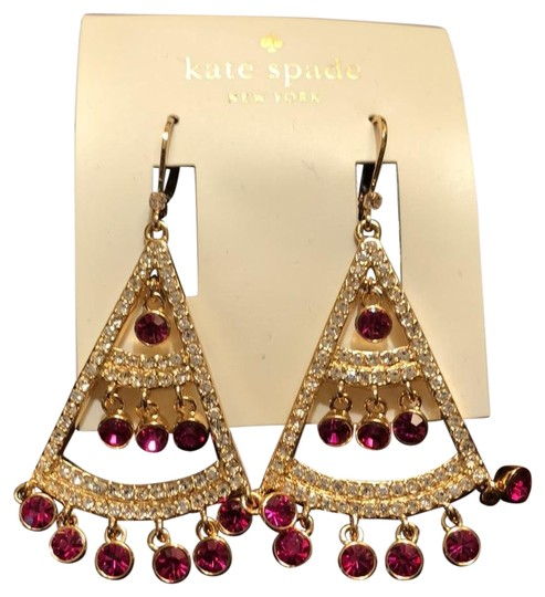Preload https://img-static.tradesy.com/item/23964615/kate-spade-pink-and-clear-crystal-subtle-sparkle-earrings-0-1-540-540.jpg