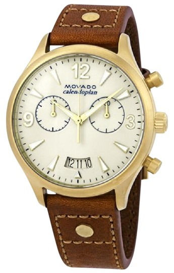 Preload https://item5.tradesy.com/images/movado-ivory-brown-heritage-chronograph-ladies-leather-watch-23964634-0-1.jpg?width=440&height=440
