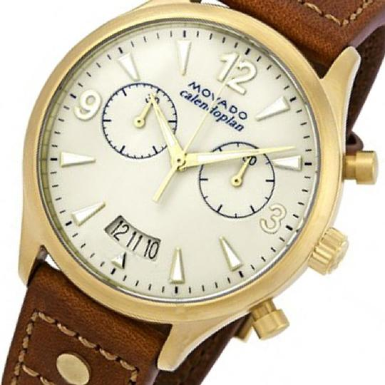 Movado Heritage Chronograph Ladies Leather Watch