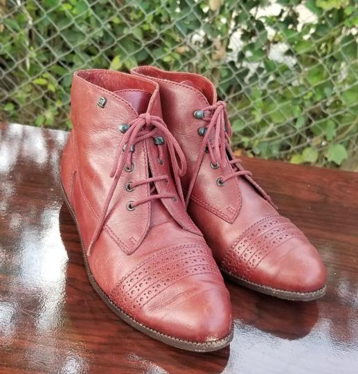 Etienne Aigner Leather Vintage Oxford Brown/Cooper Boots