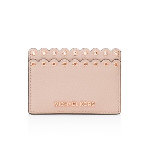 Michael Kors Michael Kors Scalloped Leather Card Case Card Holder