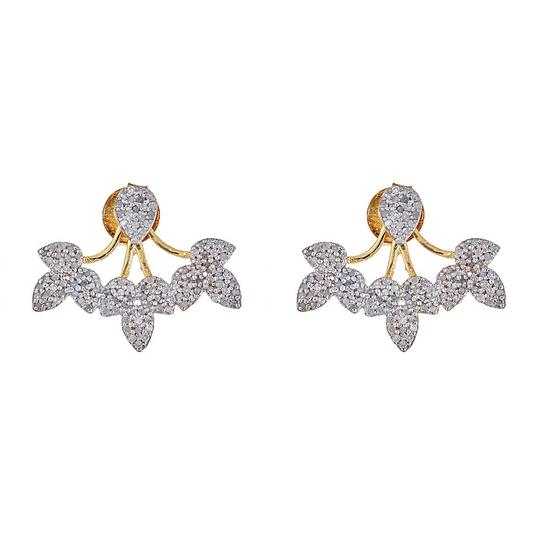 Preload https://item2.tradesy.com/images/gold-and-silver-pave-diamond-with-jackets-earrings-23964651-0-0.jpg?width=440&height=440
