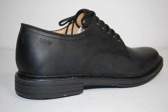 UGG Australia Leather Lightweight Soft Lamb Lining Rubber Sole BLACK Formal
