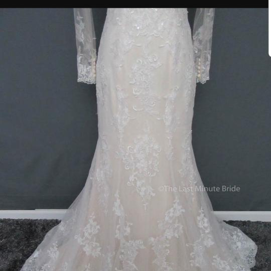 Maggie Sottero Ivoty Over Ligth Gold Lace Riberta Modern Wedding Dress Size 6 (S)