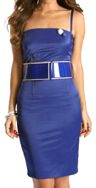 Preload https://img-static.tradesy.com/item/23964716/miss-sixty-blue-belted-short-cocktail-dress-size-0-xs-0-3-650-650.jpg