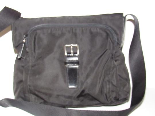 Prada Messenger/Cross Chrome Hardware Unisex Style Mint Condition Multiple Pockets Cross Body Bag