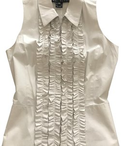 Yansi Fugel Leather Zipped Womens Sleeveless Vest