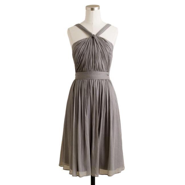 Preload https://item5.tradesy.com/images/jcrew-heather-graphite-grey-silk-party-mid-length-cocktail-dress-size-petite-2-xs-23964759-0-3.jpg?width=400&height=650