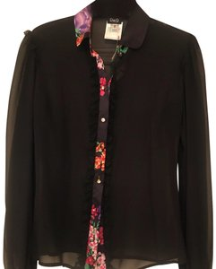 Dolce&Gabbana Vintage Lace Trim Night Out Top Black Sheer