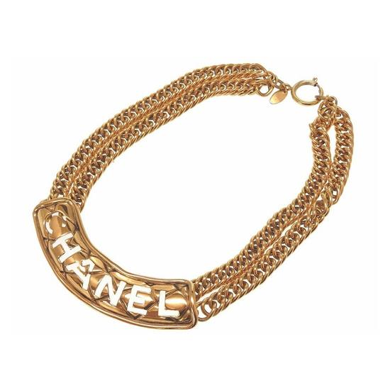 Preload https://item1.tradesy.com/images/chanel-vintage-gold-plated-double-chain-choker-necklace-23964785-0-0.jpg?width=440&height=440