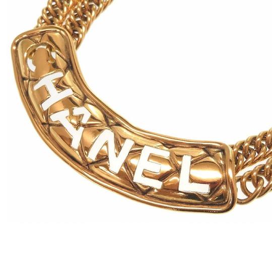 Chanel Vintage Gold Plated Double Chain Choker