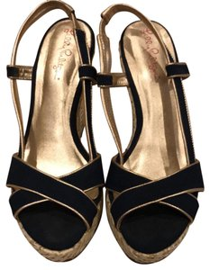 Lilly Pulitzer navy blue Wedges