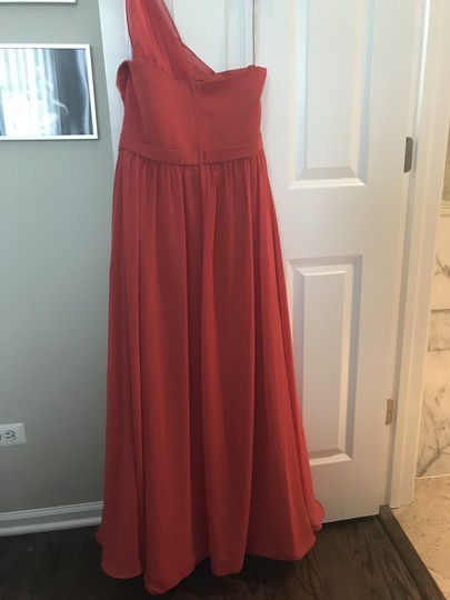Preload https://item1.tradesy.com/images/alfred-angelo-coral-polyester-tina-formal-bridesmaidmob-dress-size-6-s-23964805-0-0.jpg?width=440&height=440