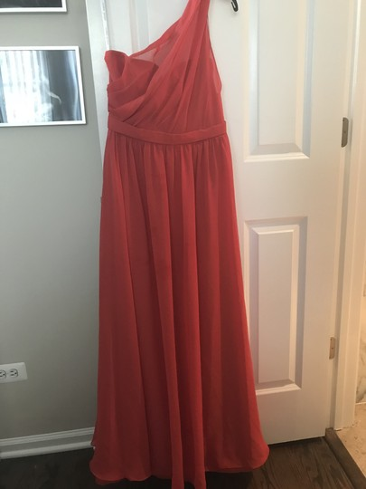 Alfred Angelo Coral Polyester Tina Formal Bridesmaid/Mob Dress Size 6 (S)