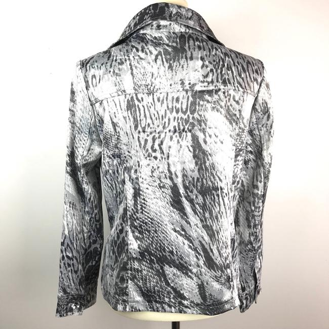 Berek Animal Print Snakeskin Metallic Jacket