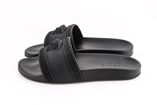 Versace Black Palazzo Medusa Sandals Shoes