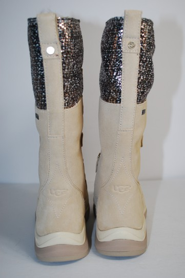 UGG Australia Waterproof Winter Linig Silver Hardware Metallic Tweed CREAM Boots
