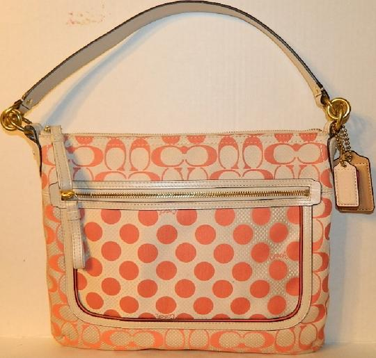 Coach Poppy Like New Shoulder Orange Cross Body Bag