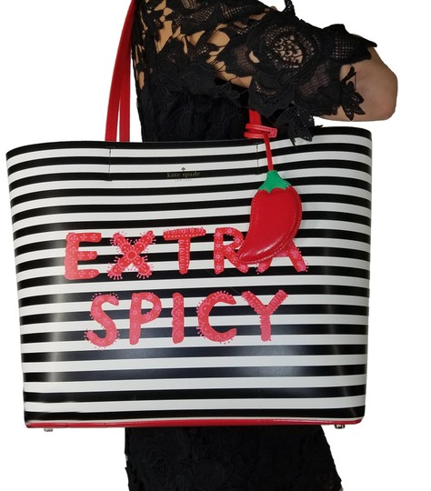 Preload https://item3.tradesy.com/images/kate-spade-new-york-chili-pepper-extra-spicy-red-shoulder-little-len-spicy-black-white-striped-tote-23964857-0-1.jpg?width=440&height=440