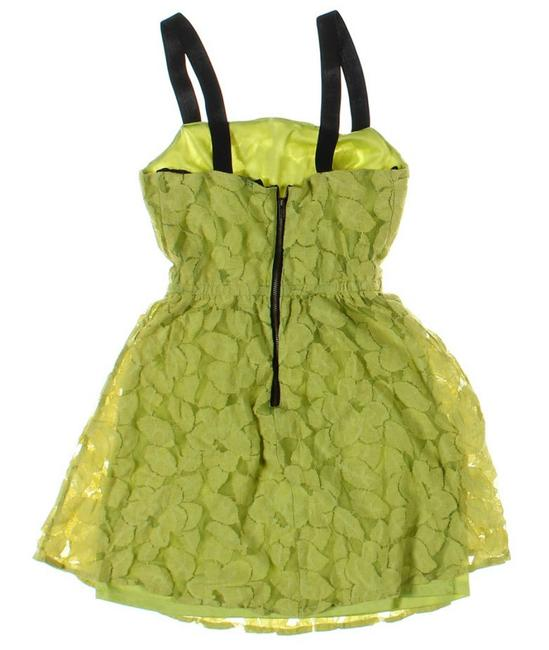 Material Girl short dress light green Textured Leaves Texture Short Flared on Tradesy
