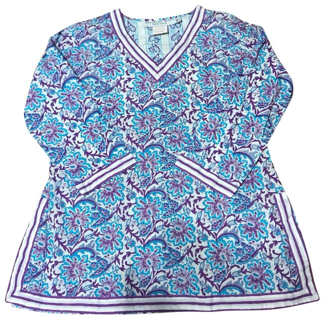 Preload https://item1.tradesy.com/images/gretchen-scott-purple-and-blue-tunic-cover-upsarong-size-8-m-23964875-0-2.jpg?width=400&height=650
