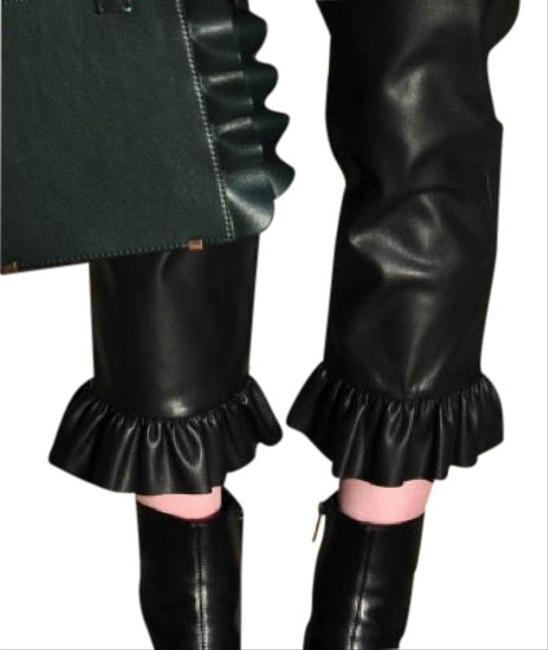 Preload https://item3.tradesy.com/images/zara-faux-leather-trousers-with-frill-flared-pants-size-4-s-27-23964902-0-4.jpg?width=400&height=650