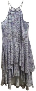 Badgley Mischka Spaghetti Strap Flowing Tiered Skirt High Low Hem Paloma New With Tags Dress