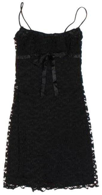 Preload https://item4.tradesy.com/images/black-slip-a-line-with-bow-detail-mid-length-cocktail-dress-size-4-s-23964923-0-1.jpg?width=400&height=650
