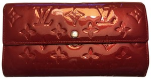 Louis Vuitton Louis Vuitton Classic Red Vernis Monogram Bi-fold Wallet