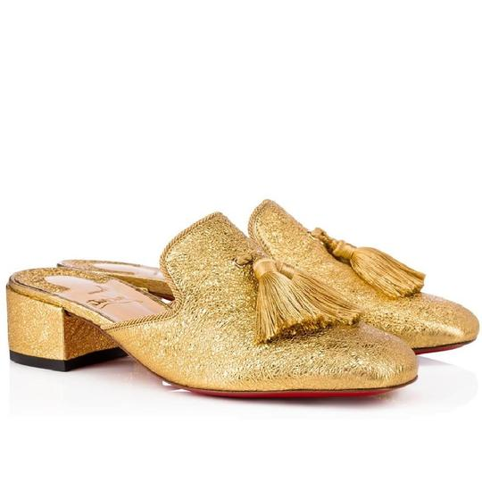 Preload https://img-static.tradesy.com/item/23964961/christian-louboutin-gold-metallic-barry-35mm-specchio-tassel-block-heel-a942-mulesslides-size-eu-37-0-0-540-540.jpg