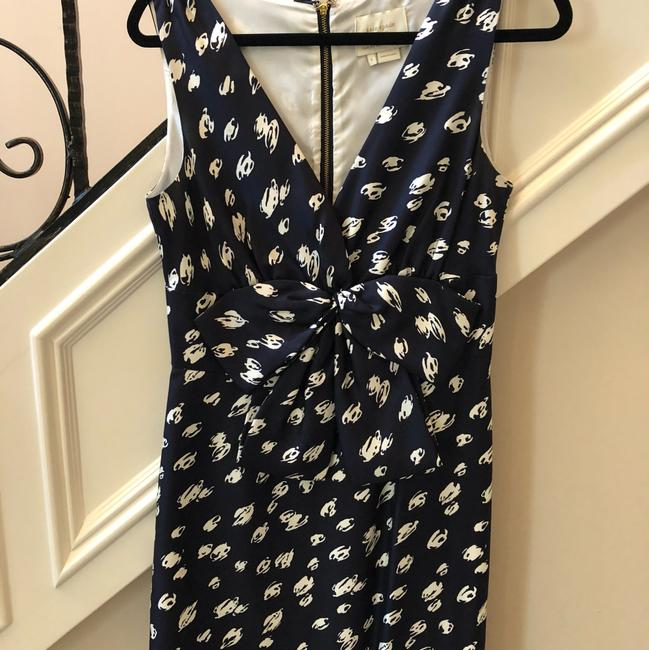 navy with white design Maxi Dress by Kate Spade