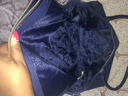 Kate Spade Leather Navy Tote Satchel in Blue