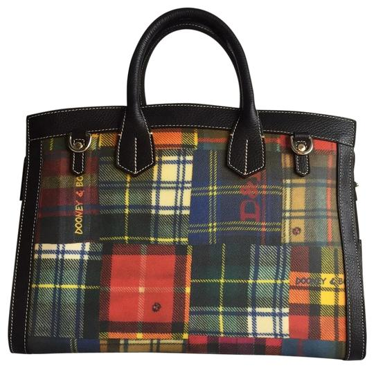 Preload https://img-static.tradesy.com/item/23965027/dooney-and-bourke-plaid-multi-color-satchel-0-1-540-540.jpg