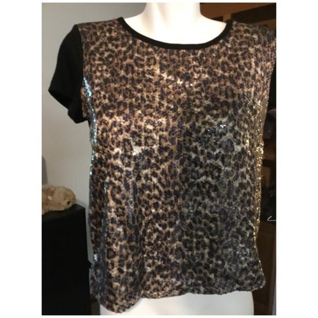 Preload https://img-static.tradesy.com/item/23965031/forever-21-black-and-brown-animal-sequin-blouse-size-10-m-0-0-650-650.jpg